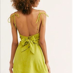 Free People Lime Mini Dress